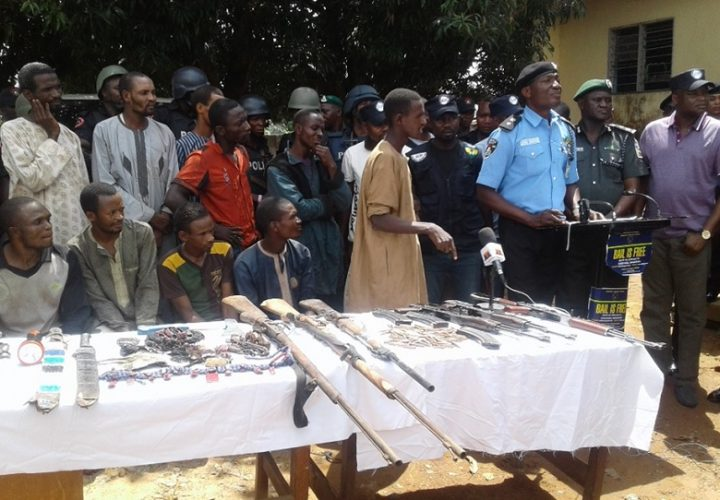 Police Parades Eleven Suspected Kidnappers/Armed Robbers