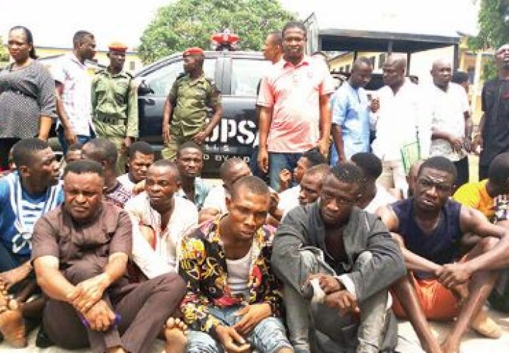 Police arrest 63, recovers stolen PVC in Akwa Ibom
